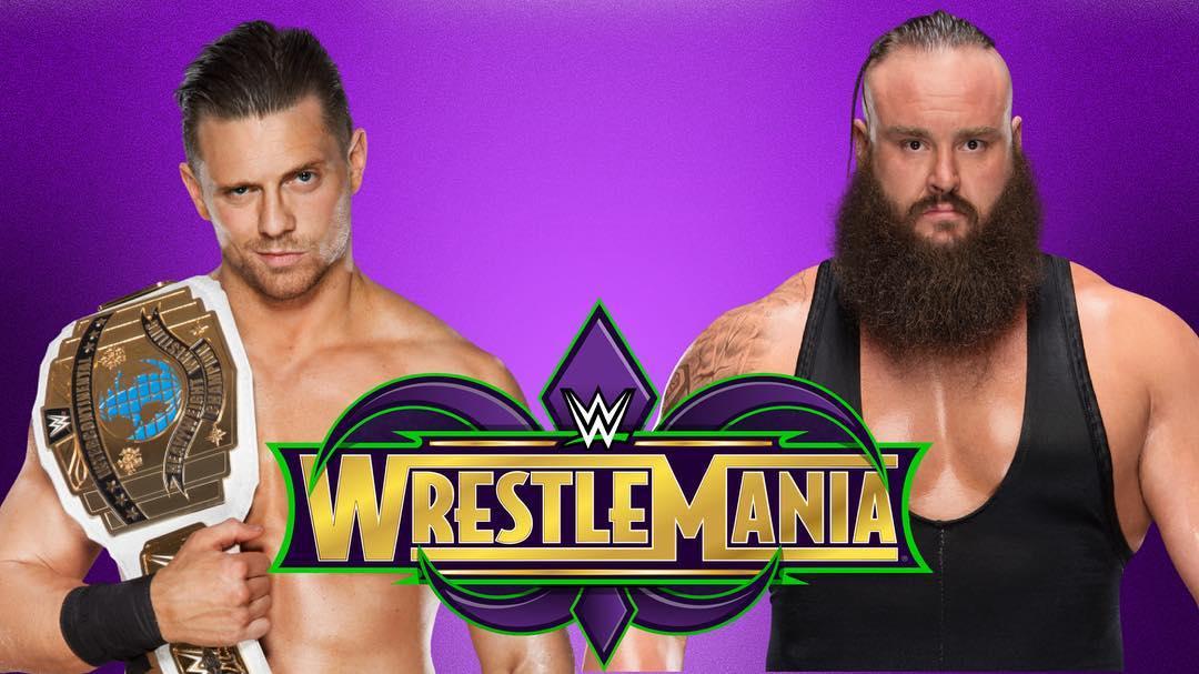 Braun Strowman vs. The Miz for the Intercontinental Championship - WrestleMania 34