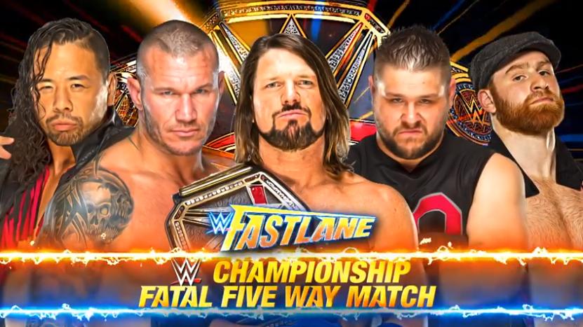 FastLane 2018 - AJ Styles vs. Randy Orton vs. Shinsuke Nakamura vs. Kevin Owens vs. Sami Zayn for the WWE Championship