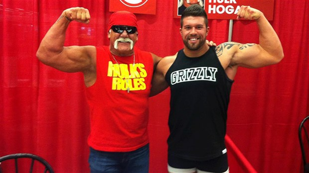 Hulk Hogan with Jacques Rougeau's son Cedric