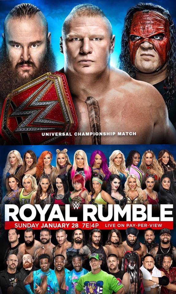 Official Poster For Royal Rumble 2018