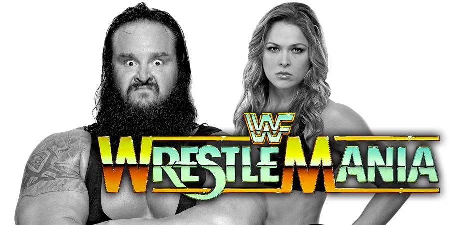 Ronda Rousey & Braun Strowman vs. Stephanie McMahon & Triple H - WrestleMania 34