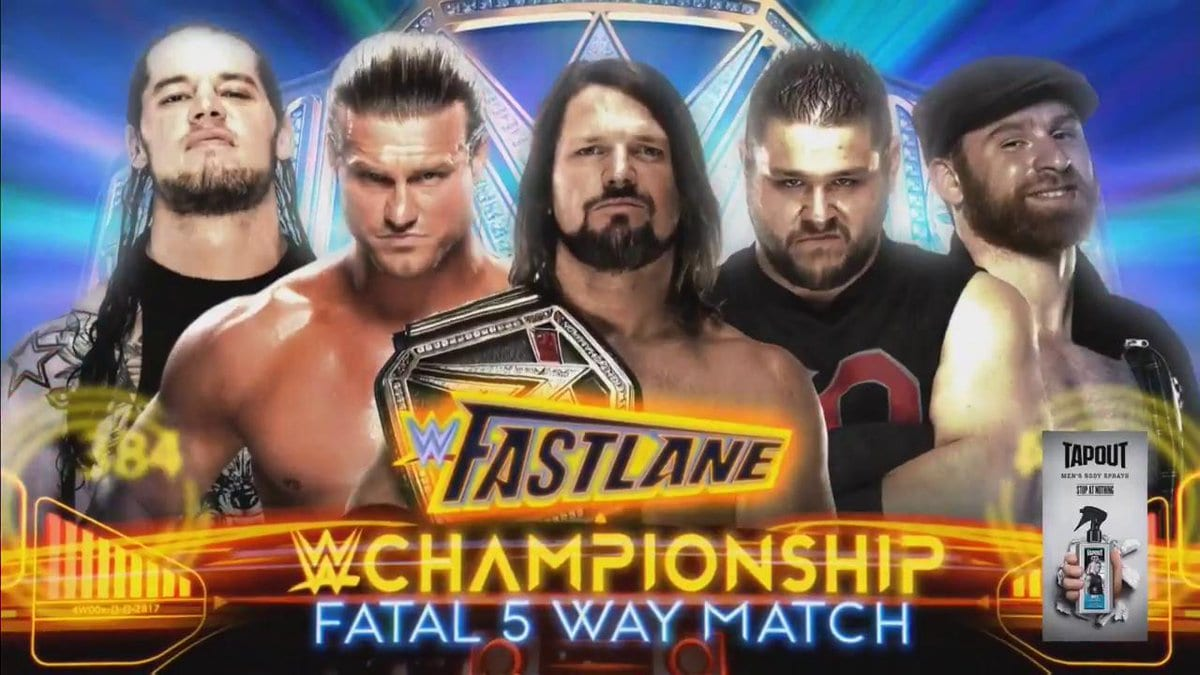 FastLane 2018 - AJ Styles vs. Dolph Ziggler vs. Baron Corbin vs. Kevin Owens vs. Sami Zayn for the WWE Championship