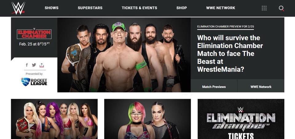 WWE Spoils Elimination Chamber 2018 Match Final Spot