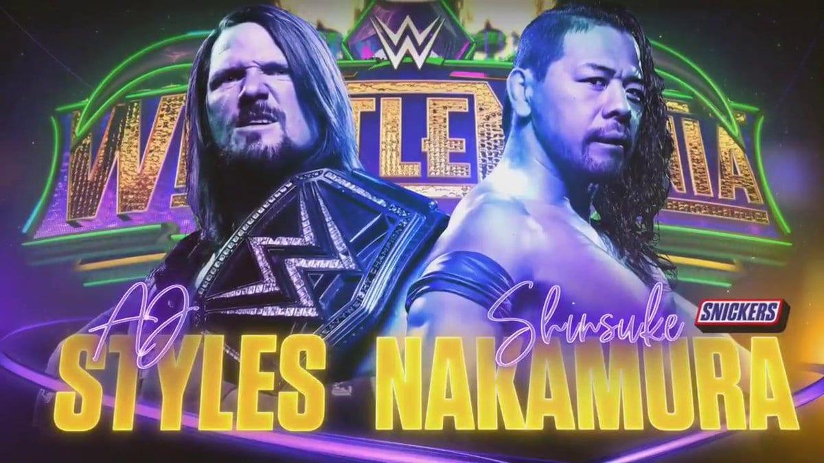 AJ Styles vs. Shinsuke Nakamura - WrestleMania 34 (WWE Championship Match)