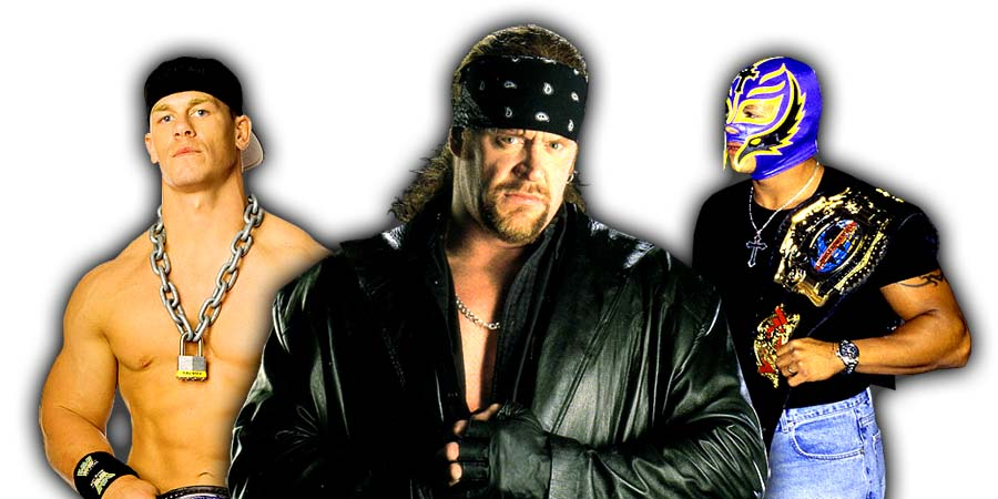 John Cena, The Undertaker & Rey Mysterio