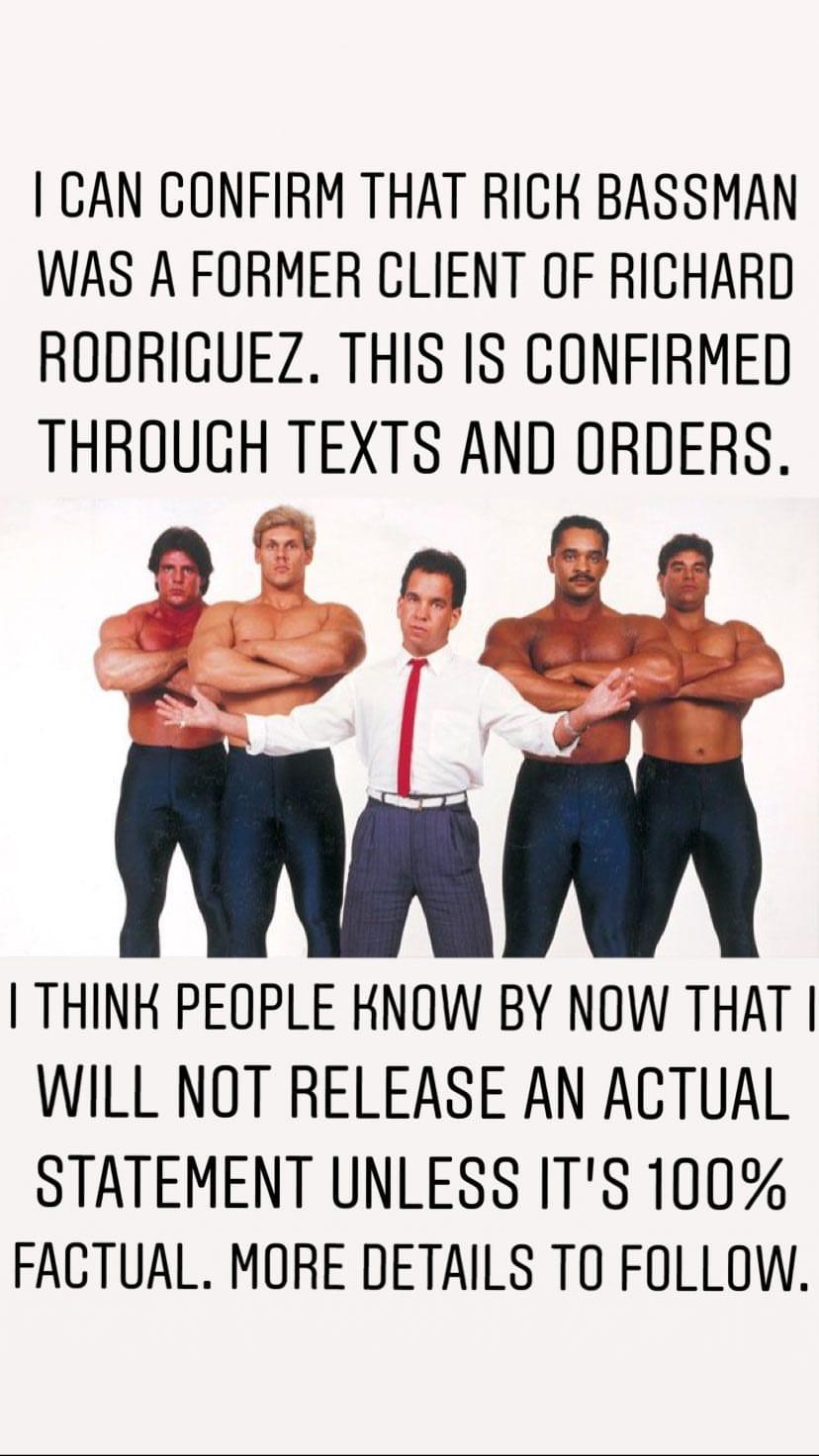 Jon Bravo confirms Rick Bassman was a former client of jailed steroid dealer Richard Rodriguez