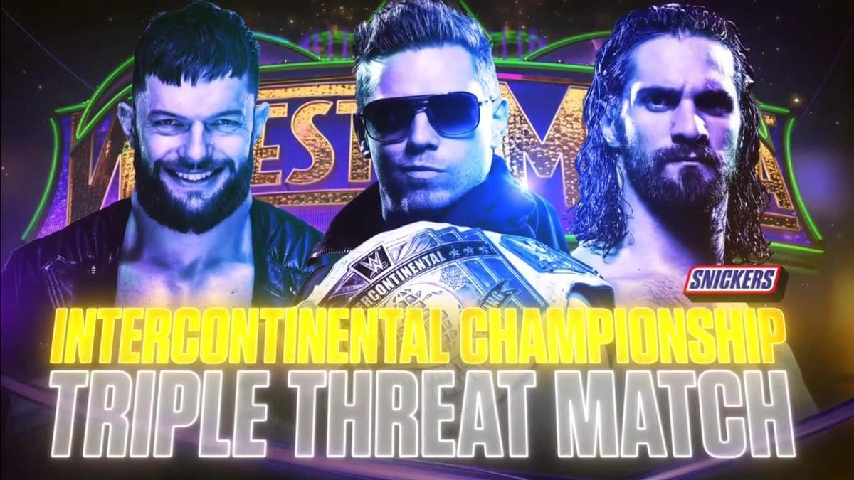The Miz vs. Seth Rollins vs. Finn Balor - WrestleMania 34 (Intercontinental Championship Match)