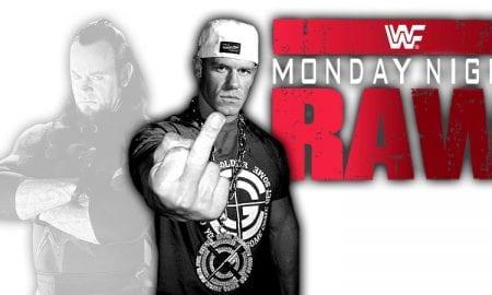The Undertaker & John Cena Raw 2018