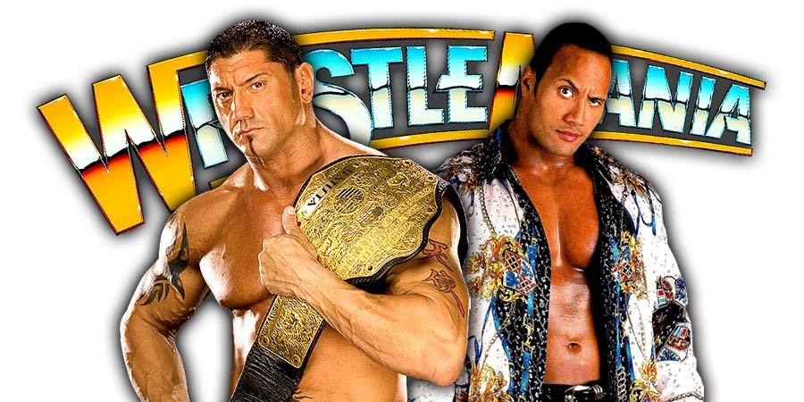 Batista The Rock WrestleMania