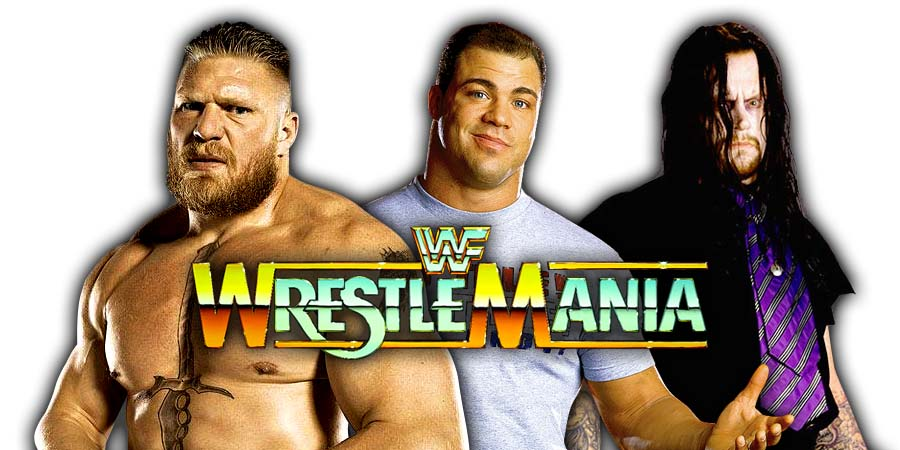 Brock Lesnar Kurt Angle The Undertaker WrestleMania 34