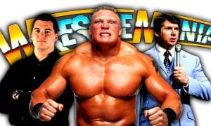 Brock Lesnar Shane McMahon Vince McMahon WrestleMania 34