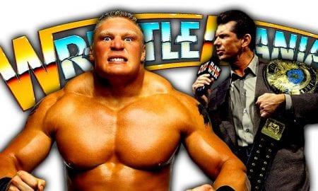 Brock Lesnar Vince McMahon WrestleMania 34