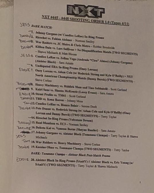 Liv Morgan Accidentally Leaks NXT Run Sheet