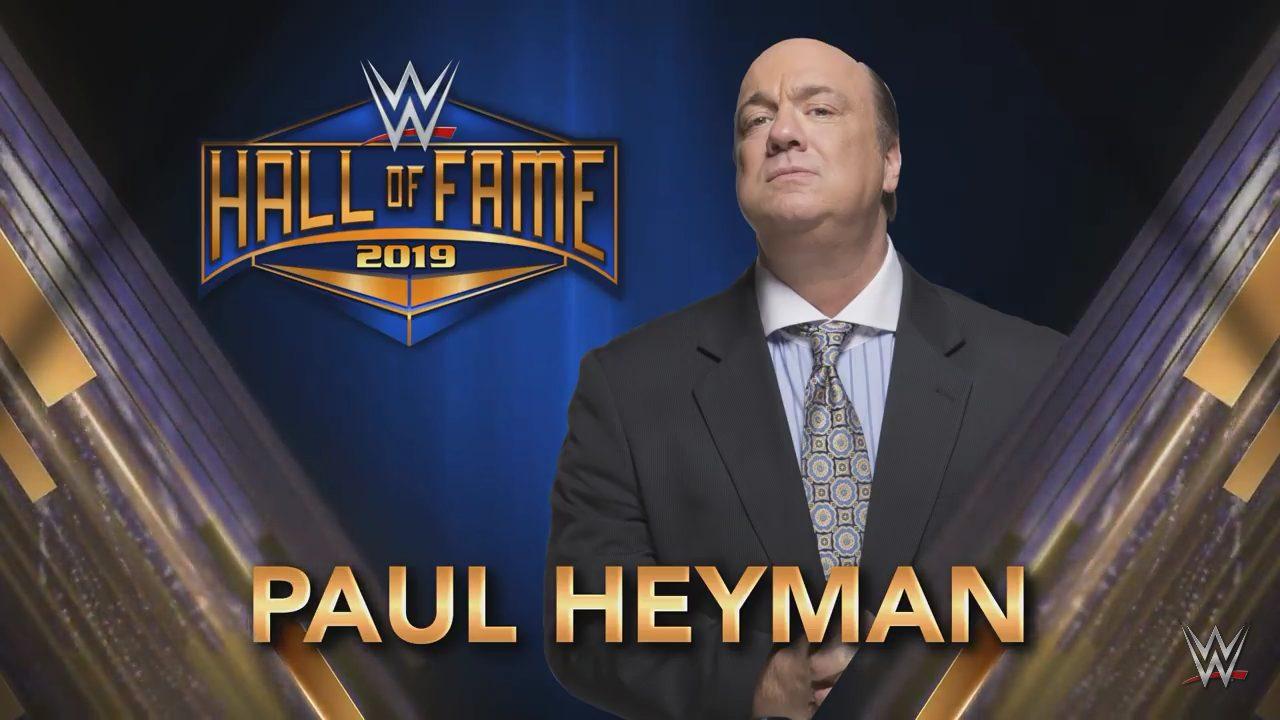 Paul Heyman WWE Hall of Fame 2019