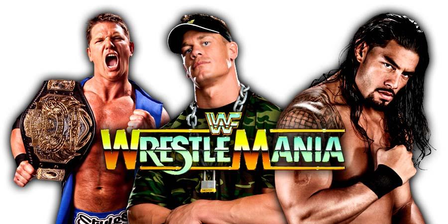 Roman Reigns John Cena AJ Styles WrestleMania 34