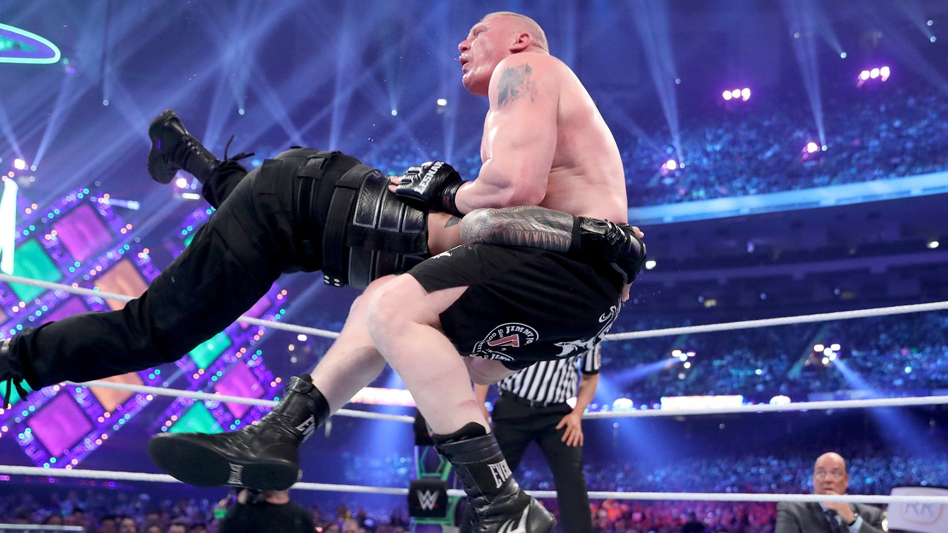 original finish to brock lesnar roman reigns match revealed