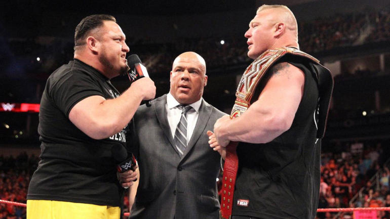 Samoa Joe Brock Lesnar Kurt Angle