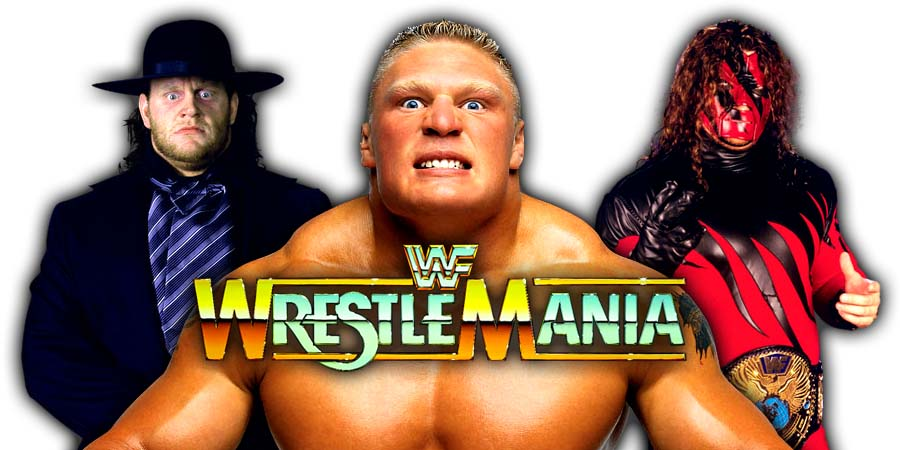 The Undertaker Brock Lesnar Kane WrestleMania 34