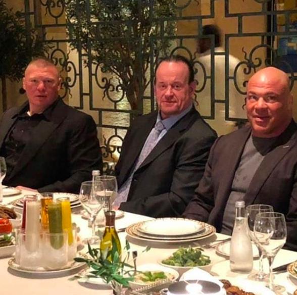 The Undertaker Brock Lesnar Kurt Angle Doing Dinner In Saudi Arabia Greatest Royal Rumble 2018