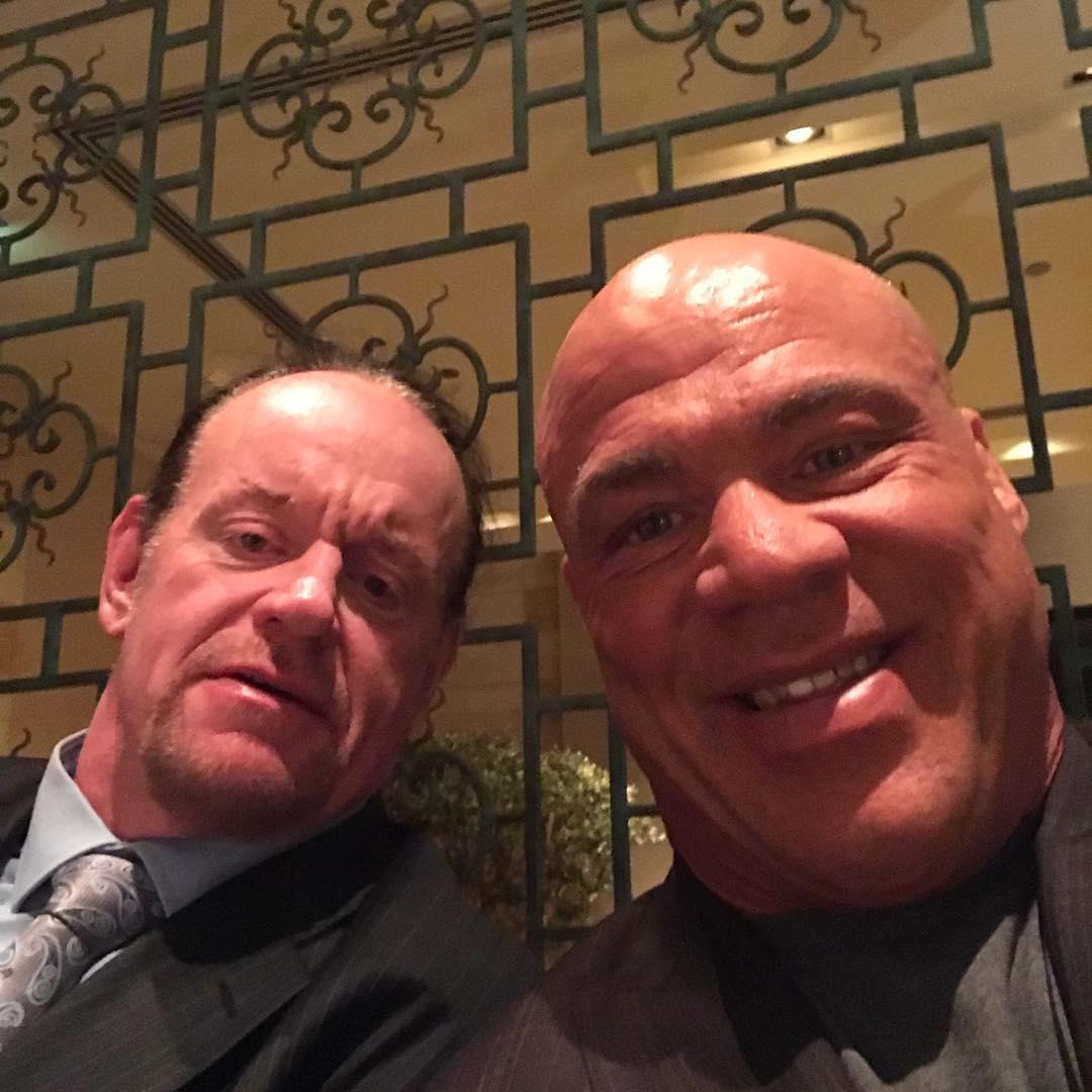 The Undertaker & Kurt Angle Doing Dinner In Saudi Arabia 2018