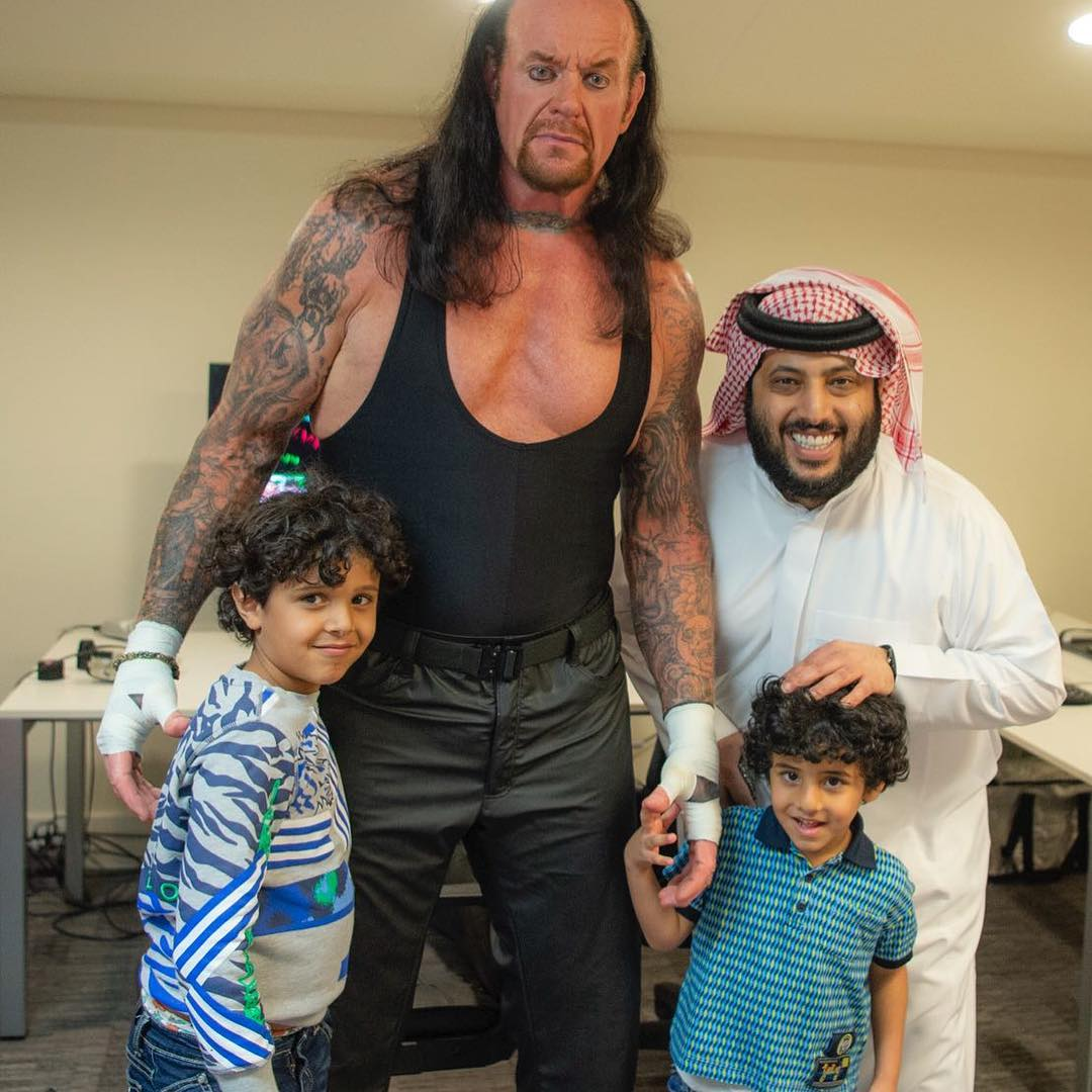 The Undertaker with Turki Al-Sheikh in Saudi Arabia Greatest Royal Rumble