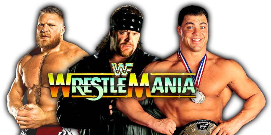 WrestleMania 34 Brock Lesnar The Undertaker Kurt Angle