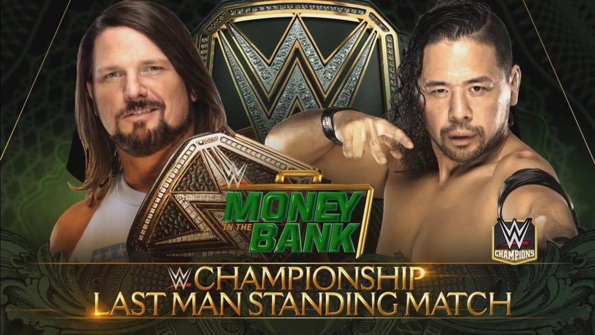 AJ Styles vs. Shinsuke Nakamura - Last Man Standing Match (Money In The Bank 2018 PPV)