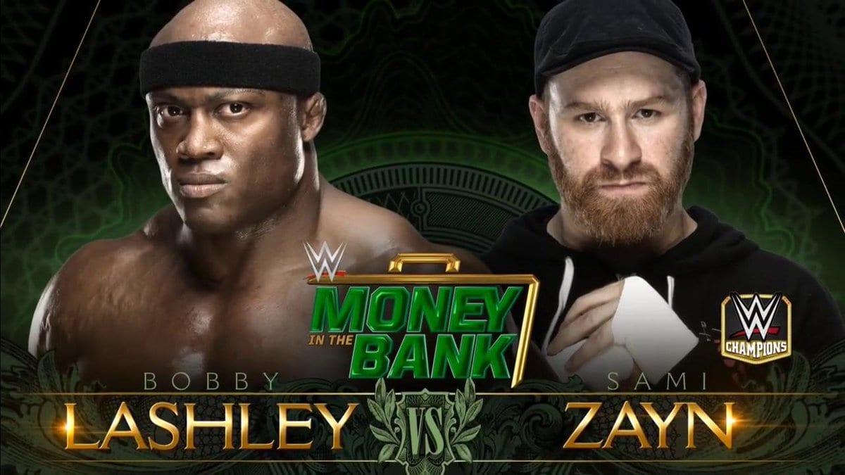 Bobby Lashley vs. Sami Zayn - Money In The Bank 2018