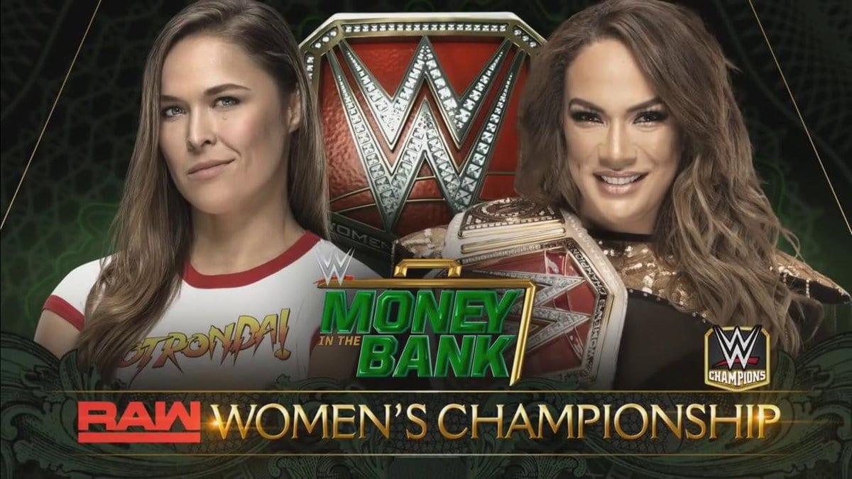 Ronda Rousey vs. Nia Jax Money In The Bank 2018 RAW Women's Championship Match