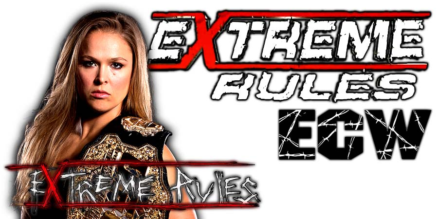 Ronda Rousey Extreme Rules 2018