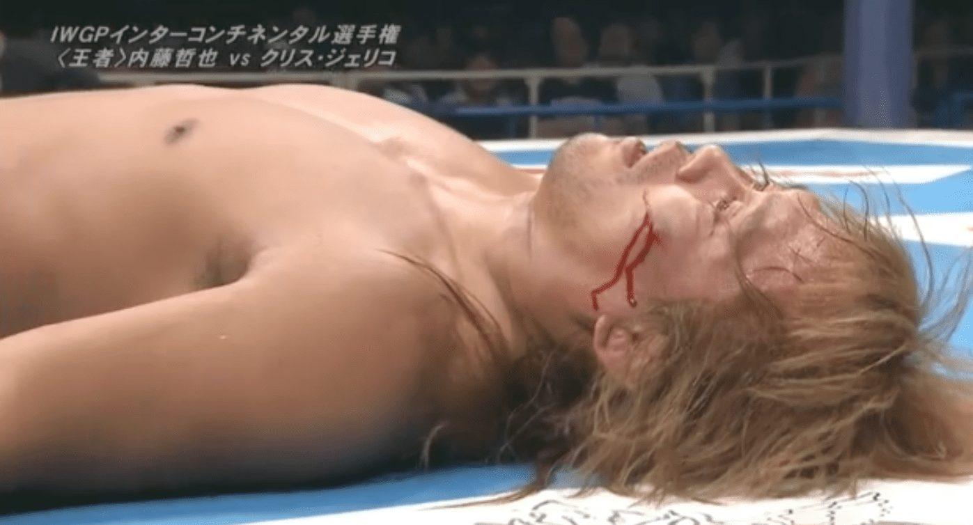 Tetsuya Naito busted open by Chris Jericho at NJPW Dominion 2018