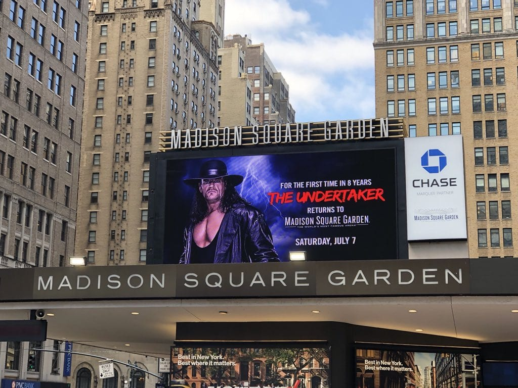 The Undertaker Returns To Madison Sqaure Garden For The First Time In 8 Years On July 7 For WWE Live Event 2018