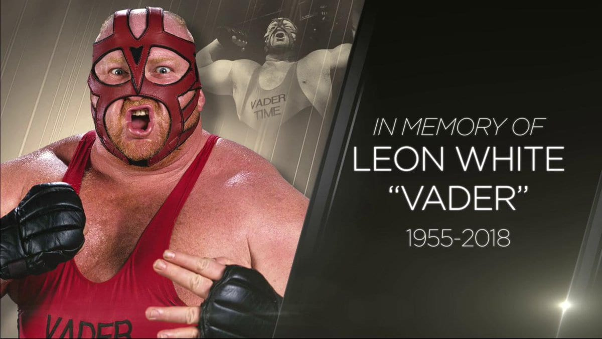 WWE Tribute Graphic For Vader On RAW