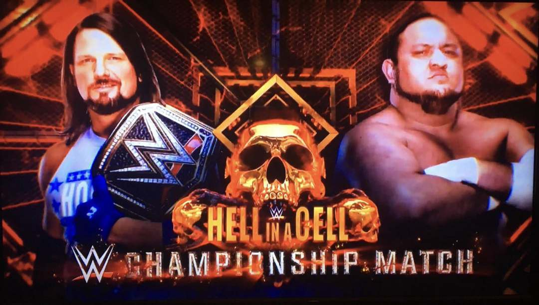AJ Styles vs. Samoa Joe - WWE Championship Match At Hell In A Cell 2018
