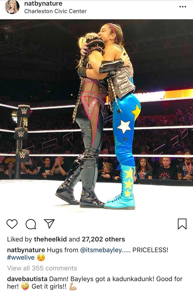Batista Makes A Fantastic Comment About Bayley's Butt