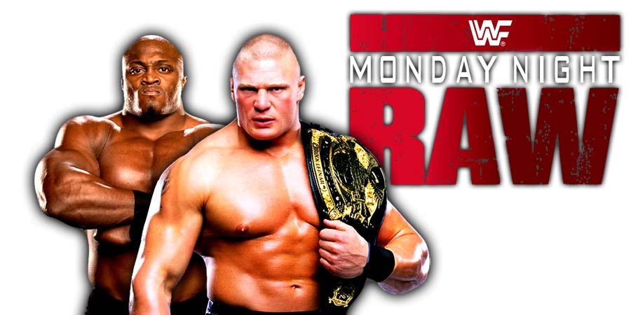 Brock Lesnar Bobby Lashley RAW 2018