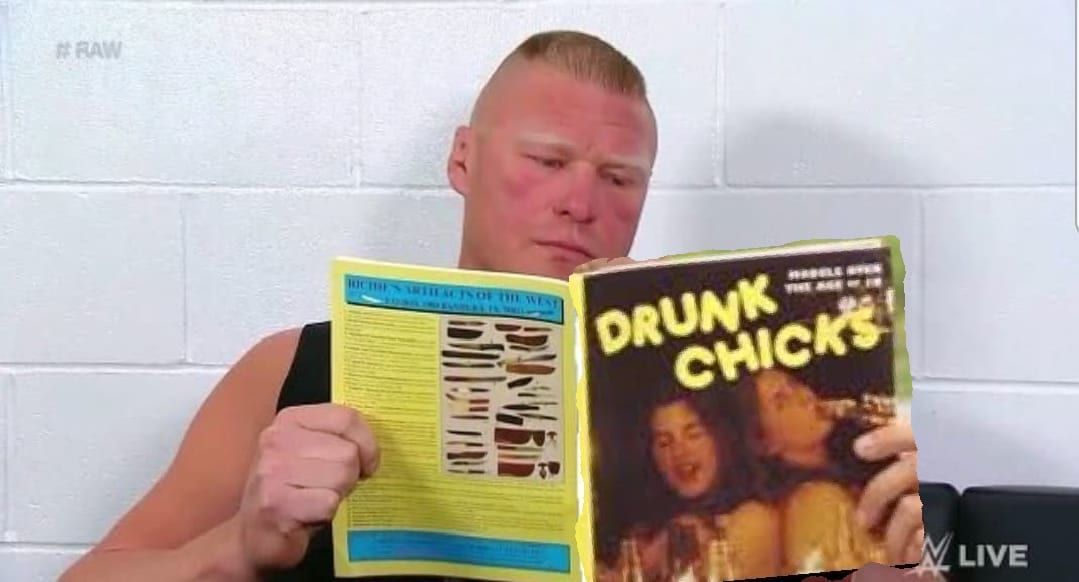 Brock Lesnar Reading A Book Meme 2