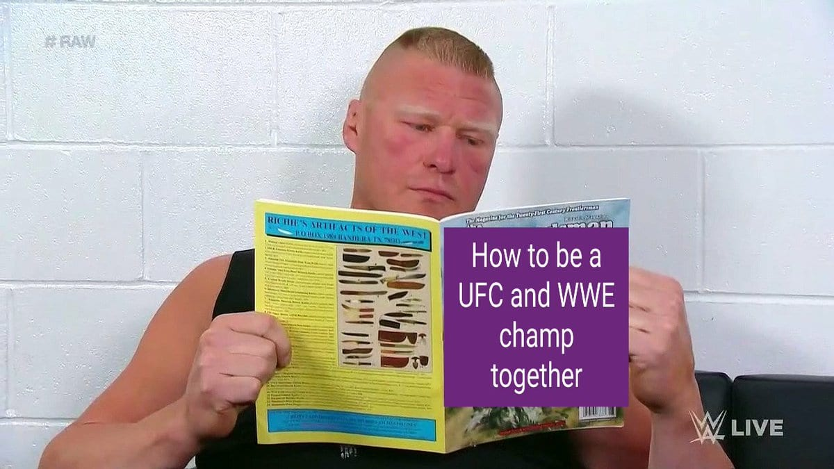 Brock Lesnar Reading A Book Meme 4