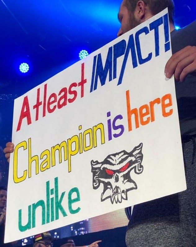 Impact Wrestling Fans Tease Brock Lesnar At Slammiversary XVI