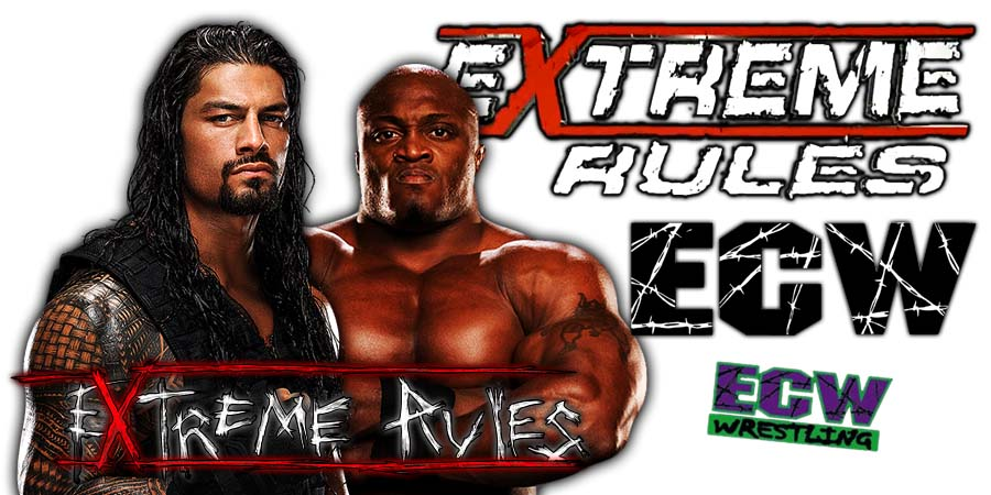 Roman Reigns vs. Bobby Lashley Extreme Rules 2018