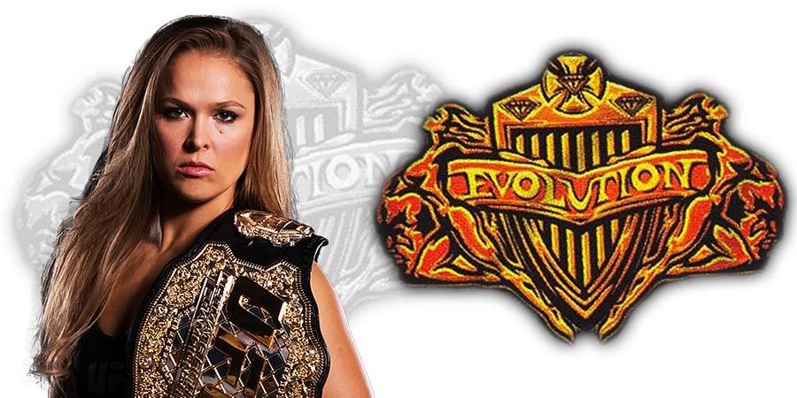 Ronda Rousey WWE Evolution 2018 PPV Match