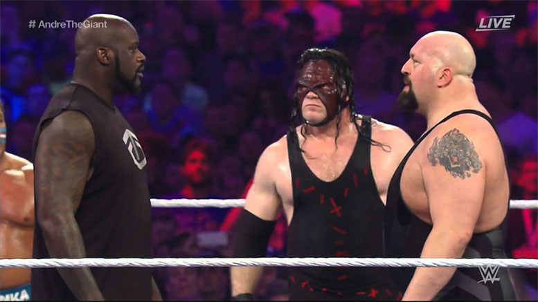 Shaquille O'Neal Big Show Kane WrestleMania 32