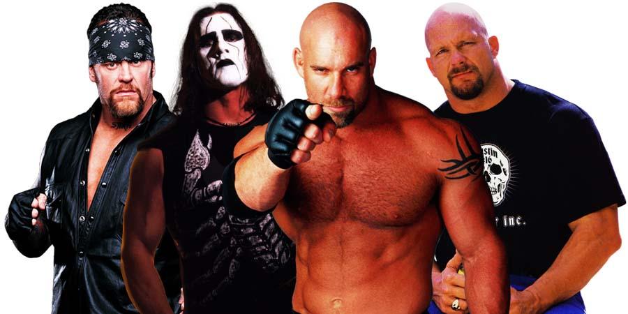 The Undertaker vs. Sting and Stone Cold vs. Goldberg