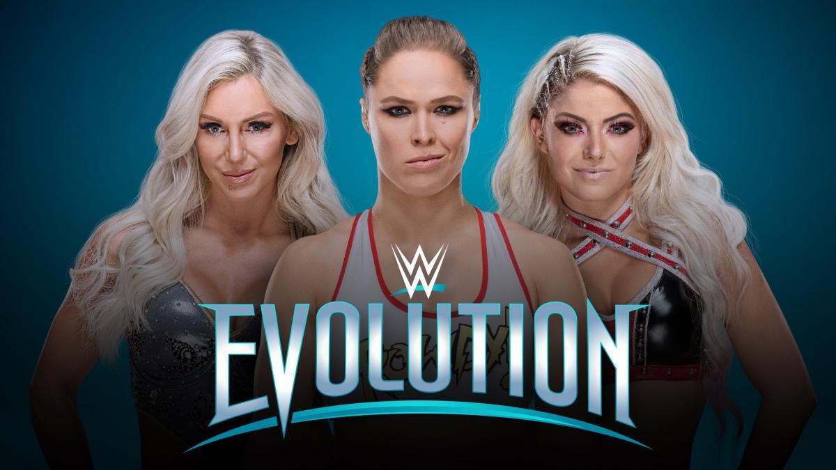 WWE Evolution 2018 PPV - Ronda Rousey, Charlotte Flair, Alexa Bliss