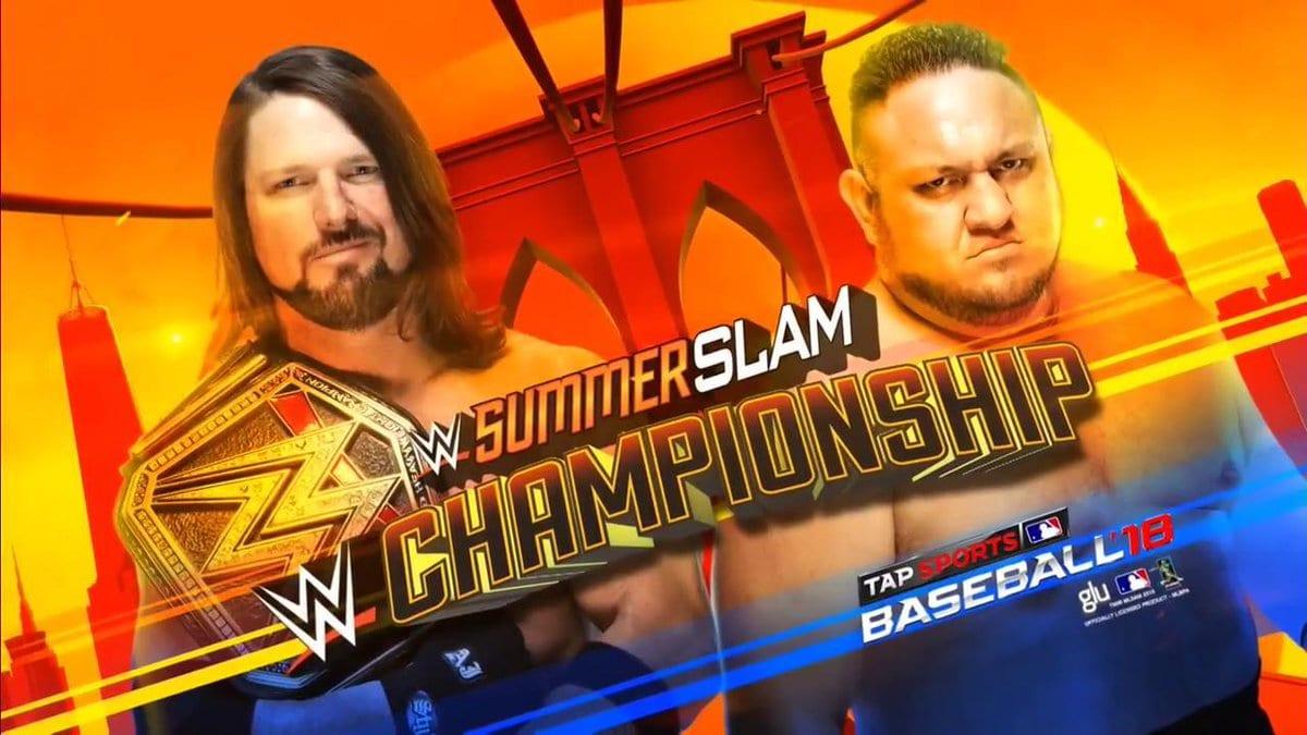 AJ Styles vs. Samoa Joe - SummerSlam 2018 (WWE Championship Match)