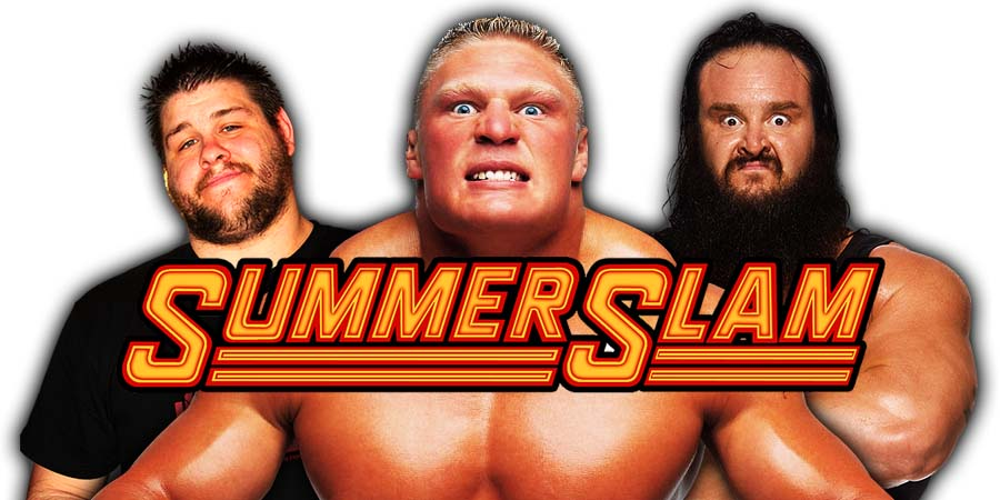 Brock Lesnar Kevin Owens Braun Strowman SummerSlam 2018
