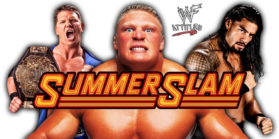 Brock Lesnar Roman Reigns AJ Styles SummerSlam 2018