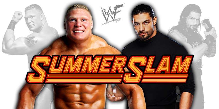 Brock Lesnar vs. Roman Reigns - SummerSlam 2018 Result Universal Championship Match