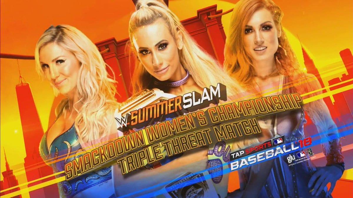 Carmella vs. Charlotte Flair vs. Becky Lynch - SummerSlam 2018 (SmackDown Women's Championship)