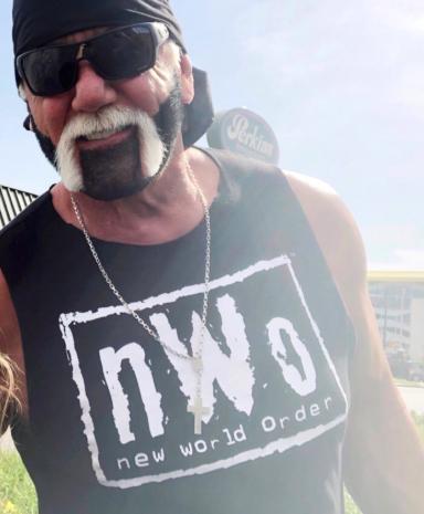 Hulk Hogan Black & White nWo Beard 2018